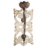 Rustic White Wood Wall Sconce